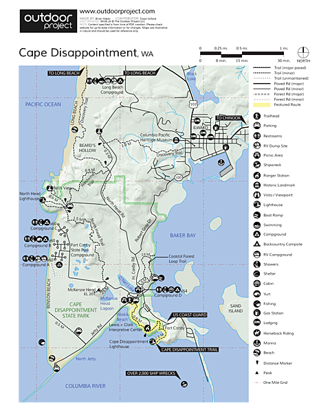 Cape Disappointment Lighthouse Trail Map