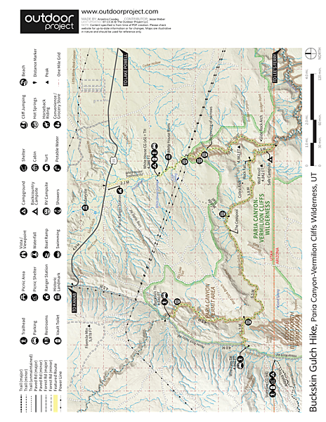 Buckskin Gulch Hike Trail Map