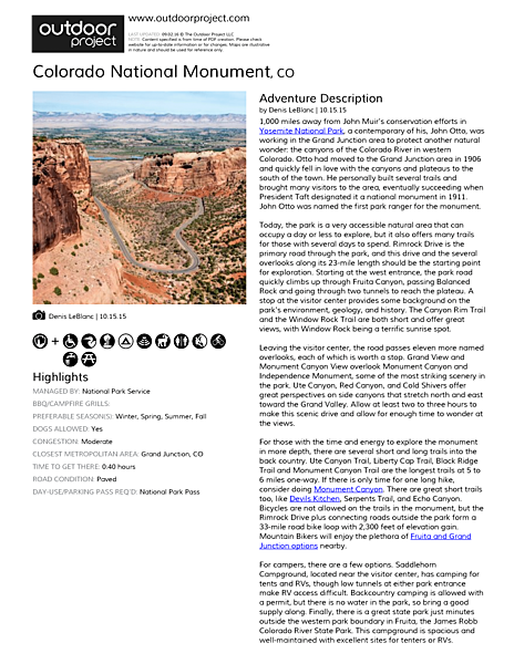 Colorado National Monument Field Guide