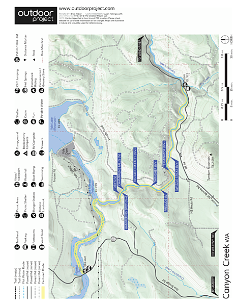 Canyon Creek River Map
