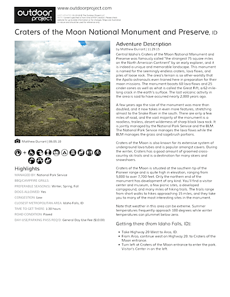 Craters of the Moon National Monument and Preserve Field Guide
