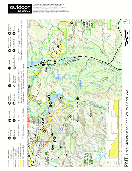 Pacific Northwest National Scenic Trail Section 8 Trail Map