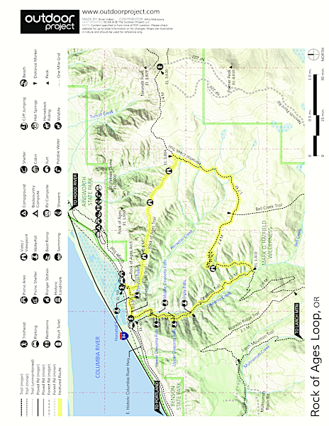 Rock of Ages Loop via Horsetail Falls Trailhead Trail Map
