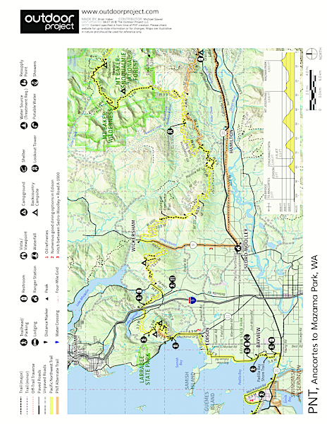 Pacific Northwest National Scenic Trail Section 11 Trail Map