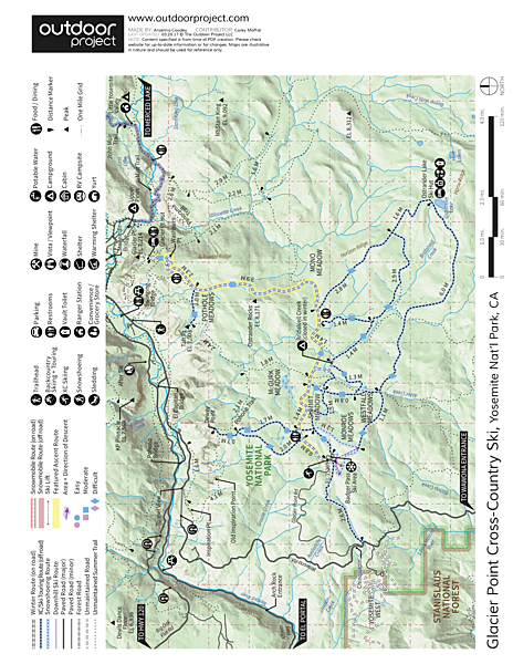 Glacier Point Cross-Country Ski Map
