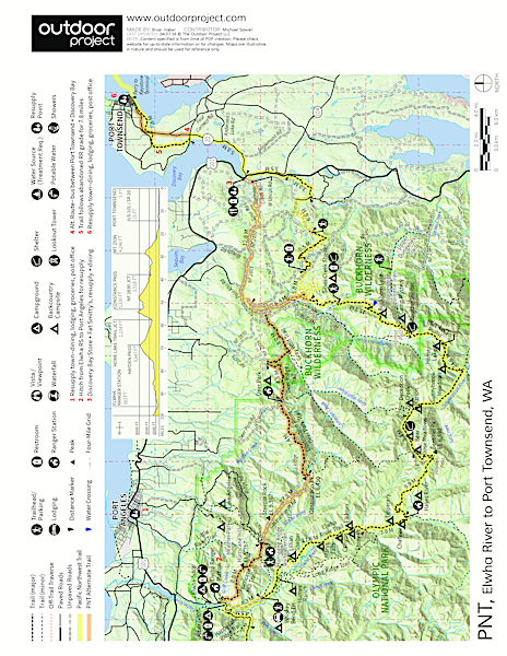 Pacific Northwest National Scenic Trail Section 12 Trail Map