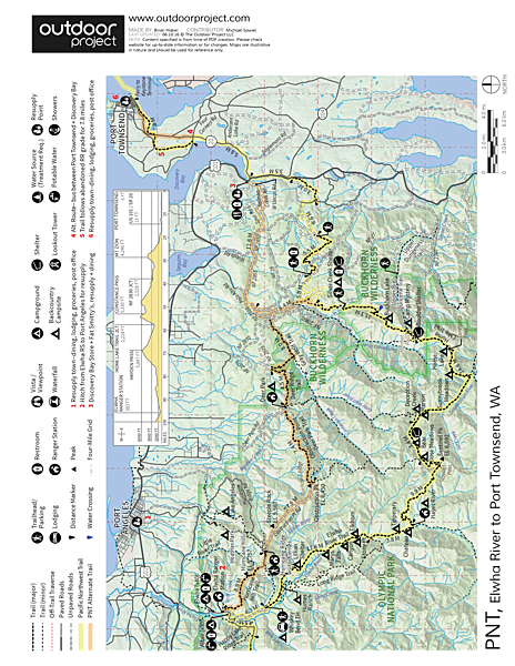 Pacific Northwest National Scenic Trail Section 13 Trail Map