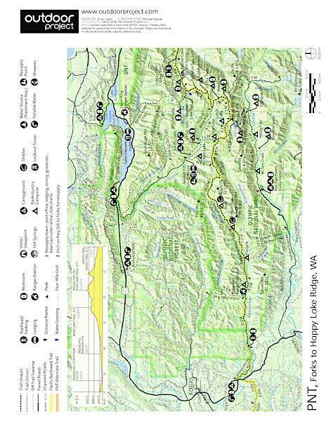 Pacific Northwest National Scenic Trail Section 14 Trail Map