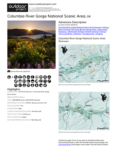 Columbia River Gorge National Scenic Area Field Guide