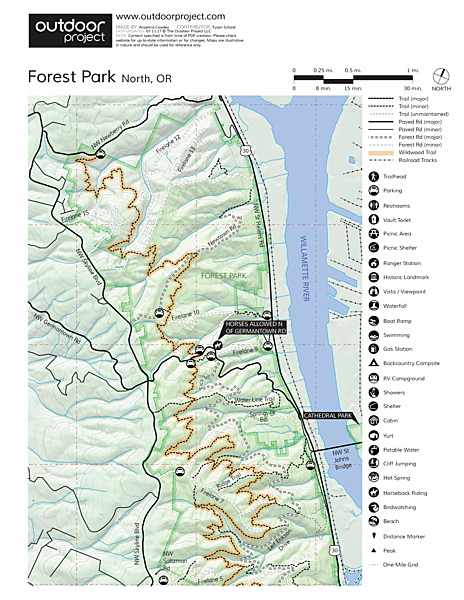 Lower Macleay Trail Loop Trail Map