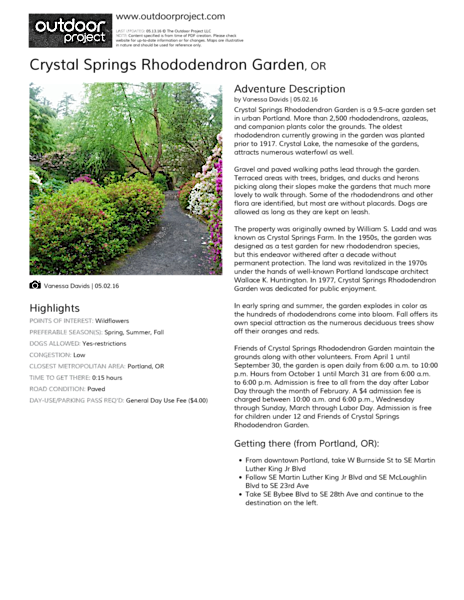 Crystal Springs Rhododendron Garden Field Guide