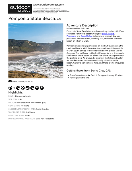 Pomponio State Beach Field Guide