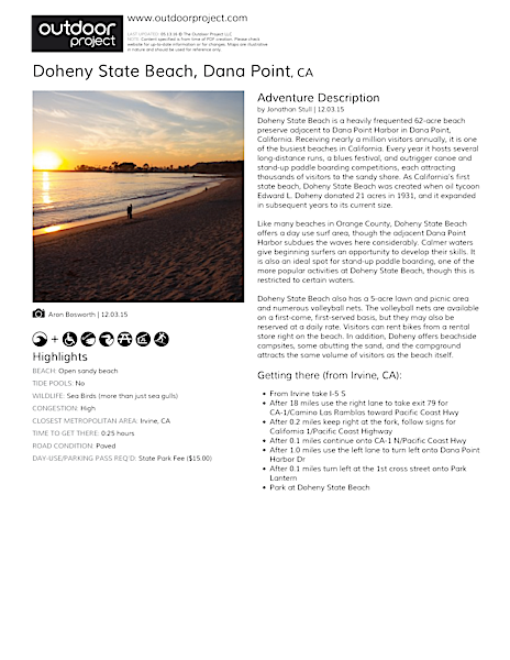 Doheny State Beach Field Guide