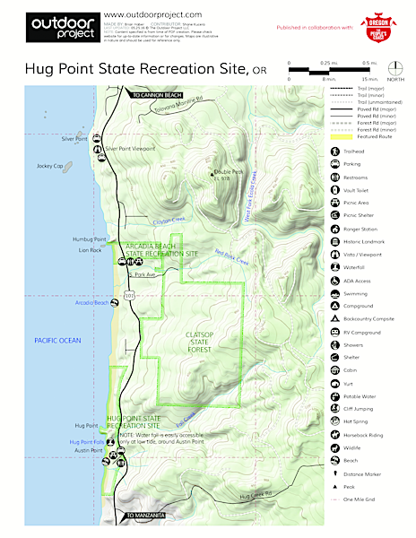 Map The Hug Hug Point State Recreation Site | Outdoor Project