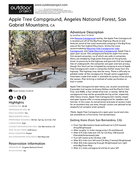 Apple Tree Campground Field Guide