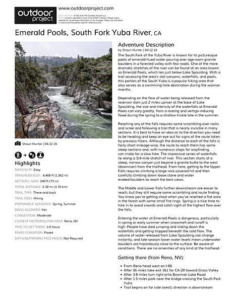 Emerald Pools Field Guide