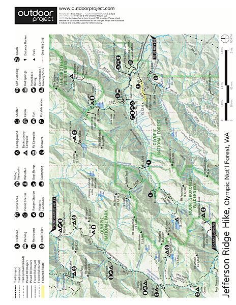 Jefferson Ridge Hike Trail Map
