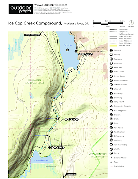Ice Cap Campground Campground Map