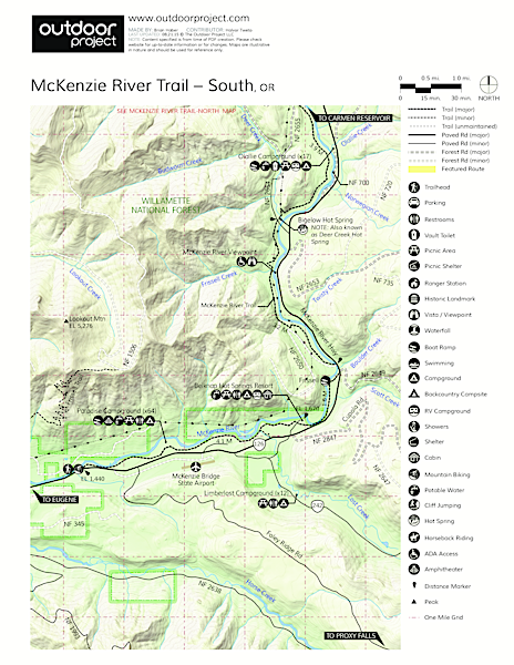 Olallie Campground Map