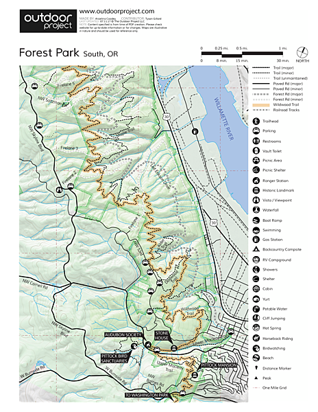 Pittock Mansion/Upper Macleay Trail Trail Map