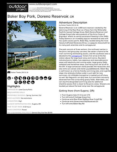 baker bay park dorena reservoir outdoor project rh outdoorproject com