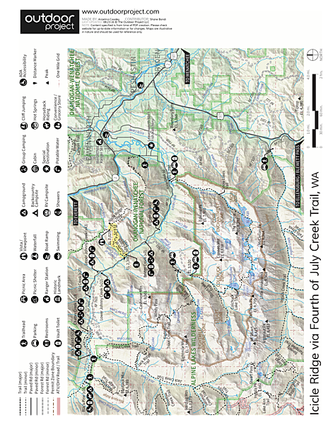 Icicle Ridge via Fourth of July Creek Trail Trail Map