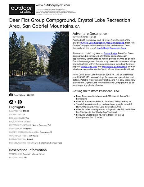 Deer Flat Group Campground Field Guide