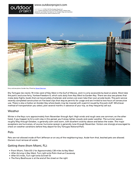 Dry Tortugas National Park Field Guide