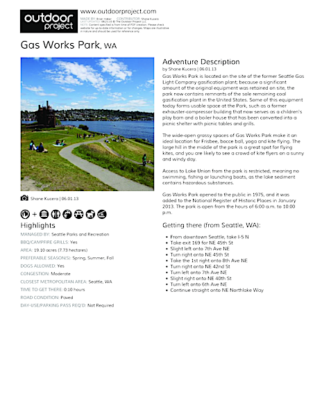 Gas Works Park Field Guide