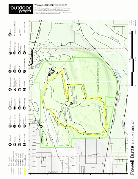 Powell Butte Nature Park, Pioneer Orchard Trail Trail Map