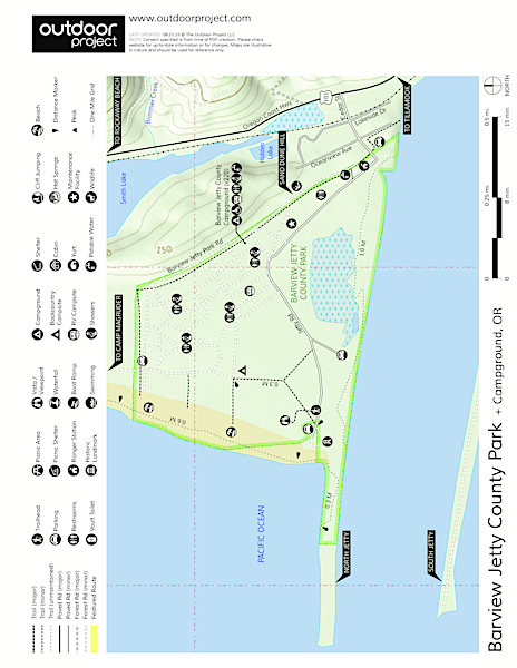 Barview Jetty County Park Campground Map
