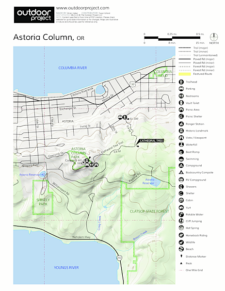 Astoria Column Map