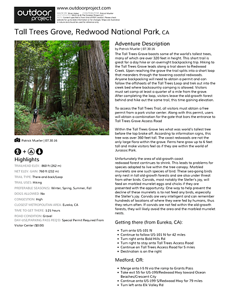 Tall Trees Grove Field Guide