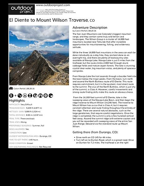 El Diente to Mount Wilson Traverse | Outdoor Project