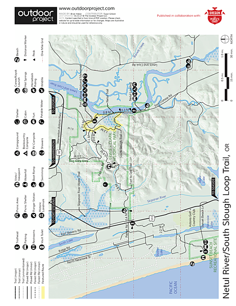 Netul River/South Slough Loop Trail Trail Map