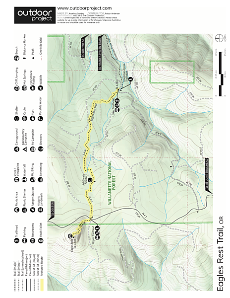 Eagles Rest Trail Trail Map