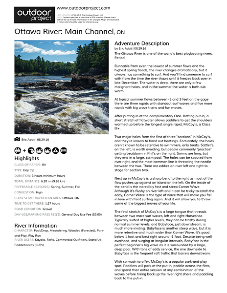 Ottawa River: Main Channel Field Guide