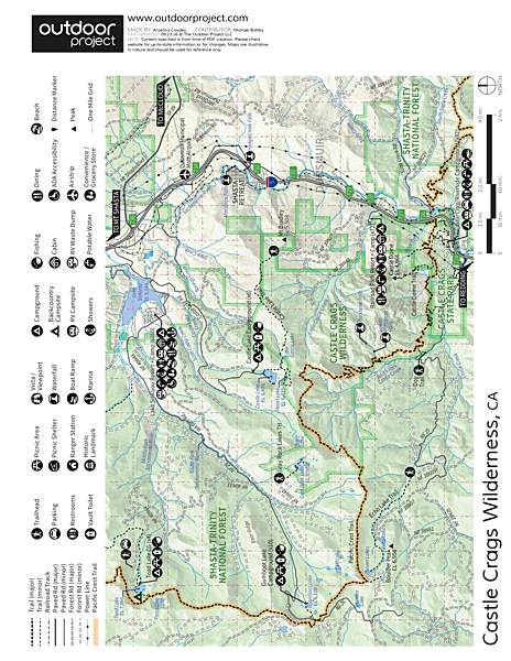 Castle Lake Overlook Trail Map
