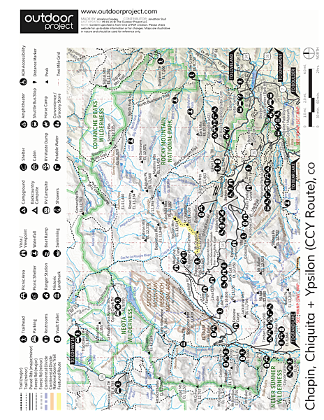 Chapin, Chiquita + Ypsilon (CCY Route) Trail Map