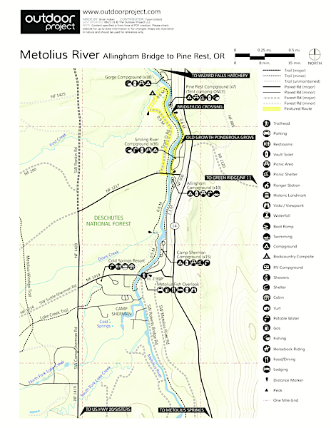 Metolius River Trail Trail Map