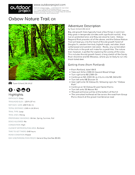 Oxbow Nature Trail Field Guide