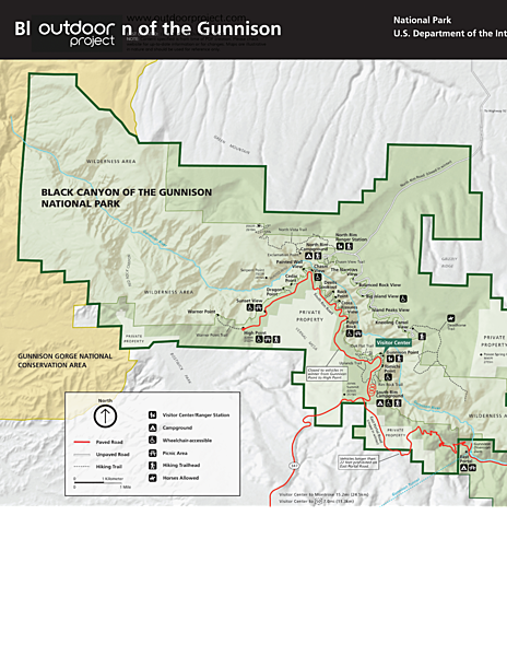 North Rim Road Map