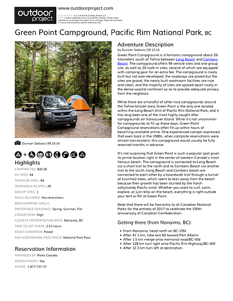 Green Point Campground Field Guide