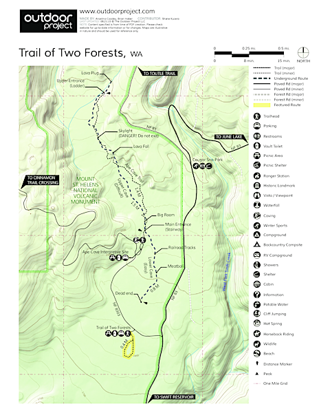 Trail of Two Forests Map