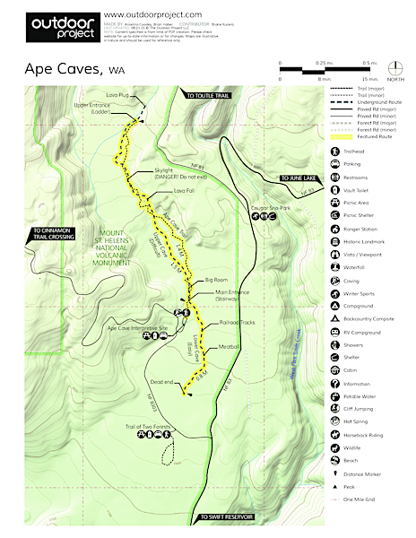Ape Caves Trail Map