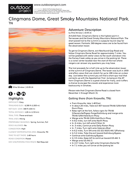 Clingmans Dome Field Guide