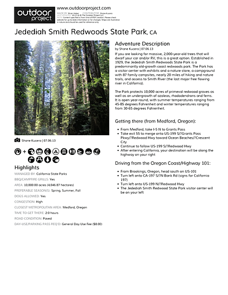 Jedediah Smith Redwoods State Park Field Guide