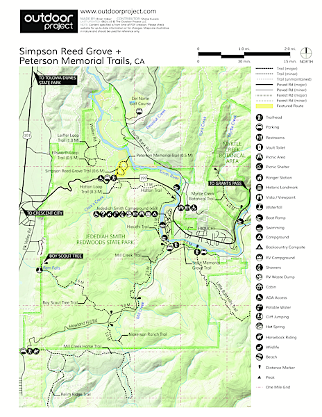 Simpson Reed Grove + Peterson Memorial Trail Trail Map