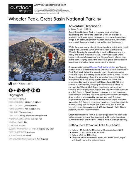 Wheeler Peak Field Guide