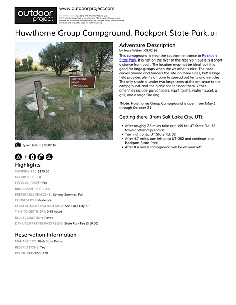 Hawthorne Group Campground Field Guide